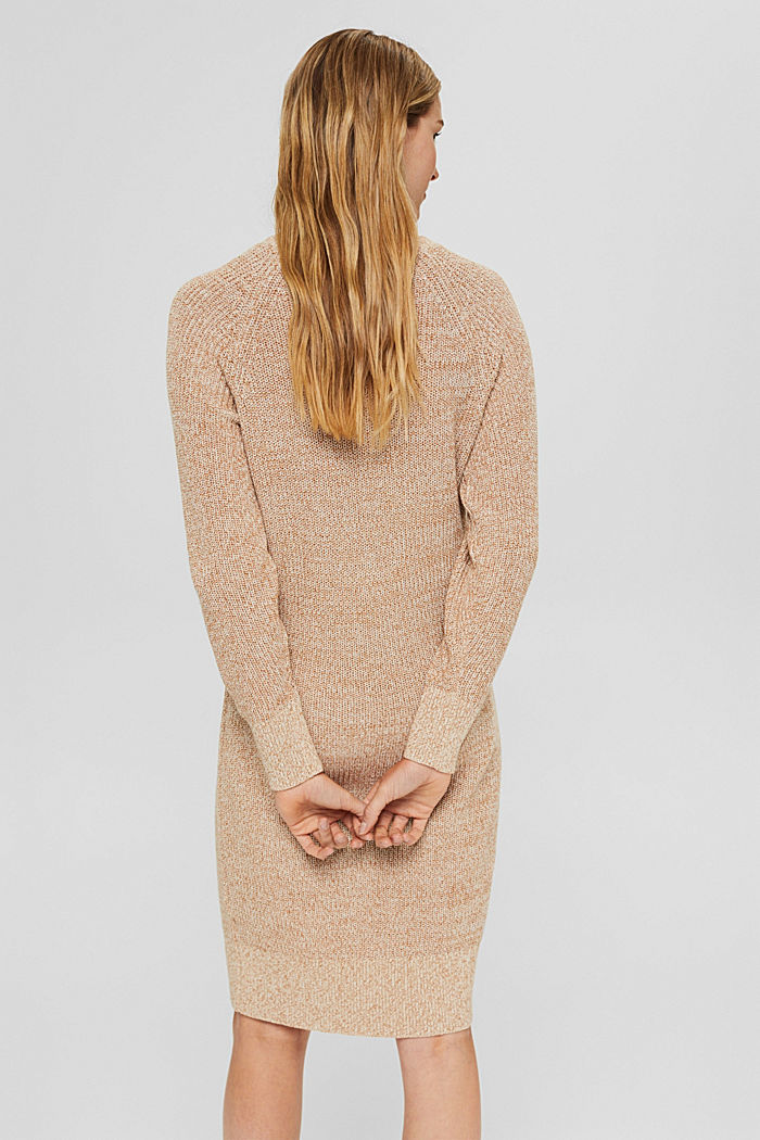 Gebreide jurk van 100% katoen, BEIGE, detail image number 2