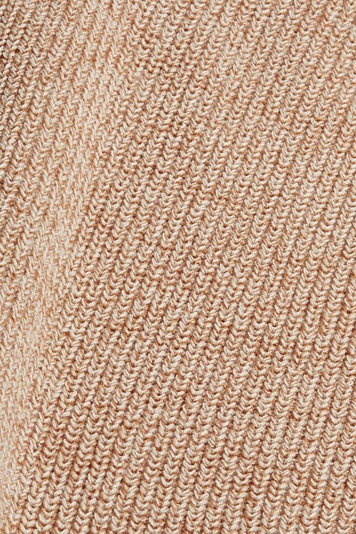 Gebreide jurk van 100% katoen, BEIGE, detail image number 4