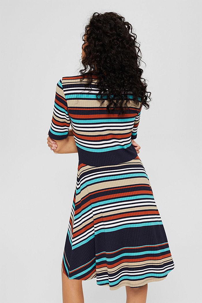 Colour block jurk van geribde jersey, NAVY, detail image number 2