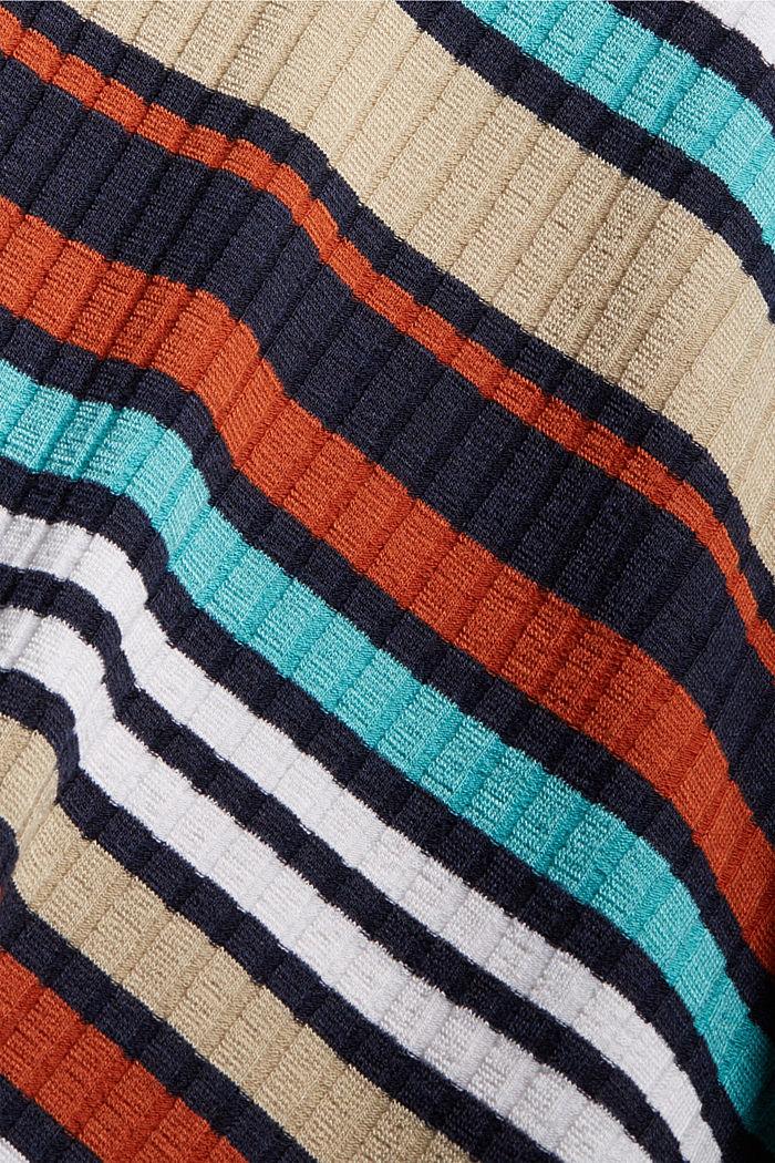 Colour block jurk van geribde jersey, NAVY, detail image number 4