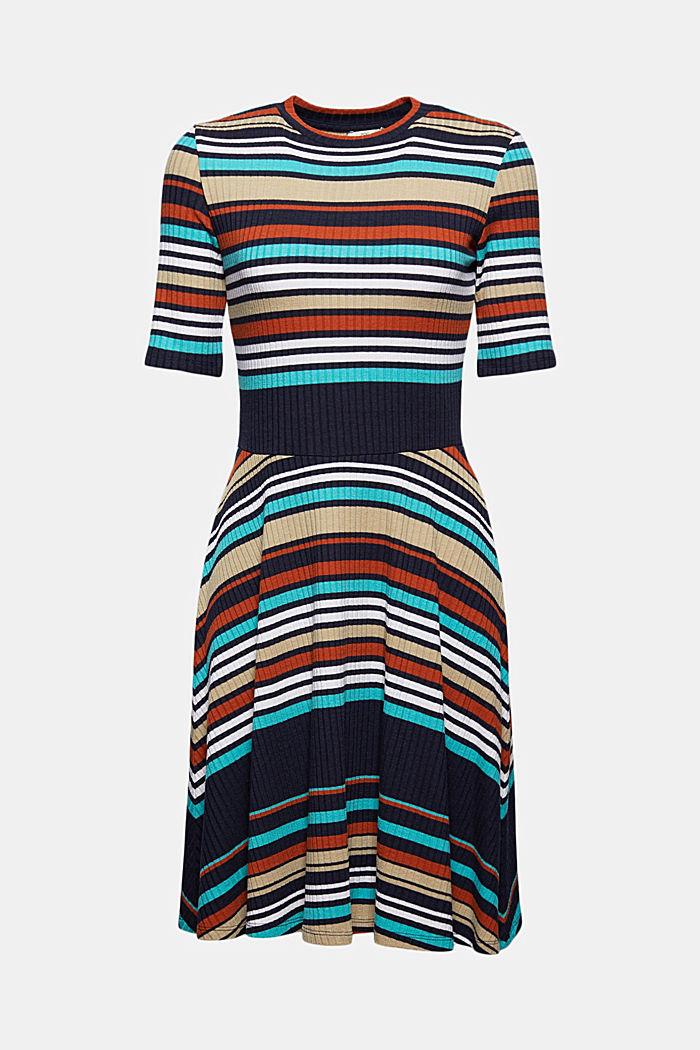 Colour block jurk van geribde jersey, NAVY, detail image number 7