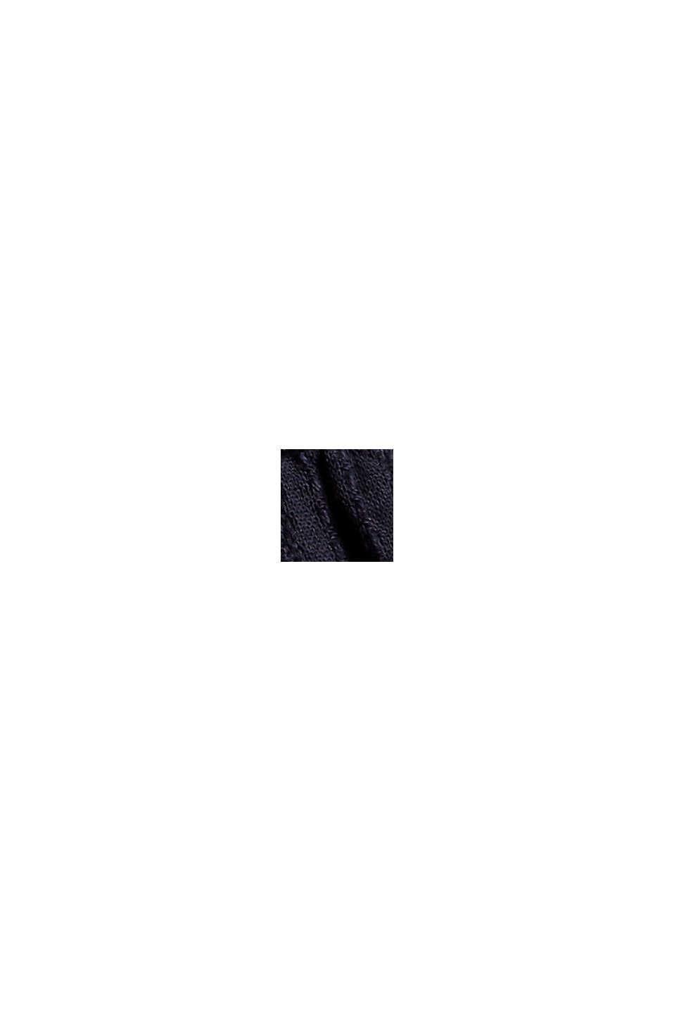 Volantkleid in A-Linie mit Webstreifen, NAVY, swatch