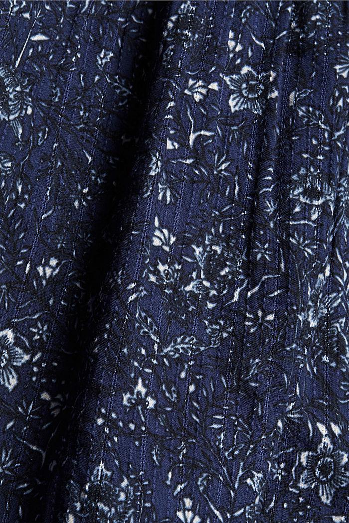 Print-Kleid mit Rüschen aus 100% Baumwolle, NAVY, detail image number 4