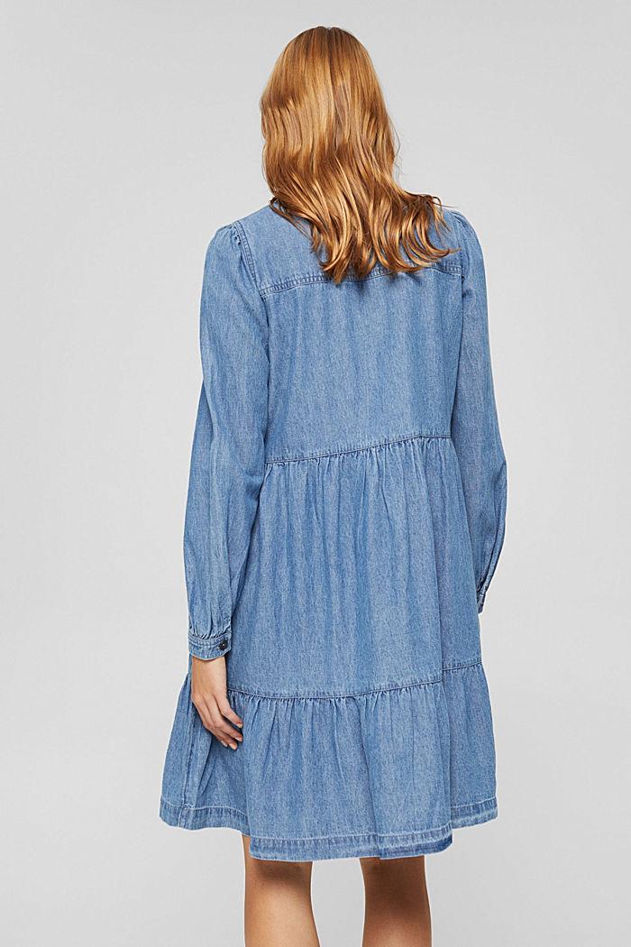 Robe chemisier en jean, en coton, BLUE MEDIUM WASHED, detail image number 2