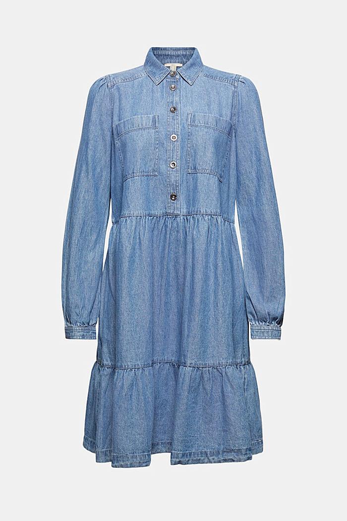 Jeans-Blusenkleid aus Baumwolle