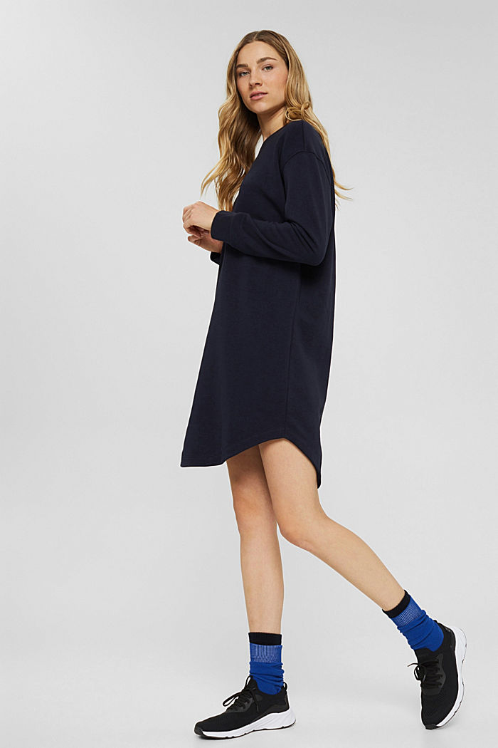 Dresses knitted Oversized drop sh tee , NAVY, detail image number 1