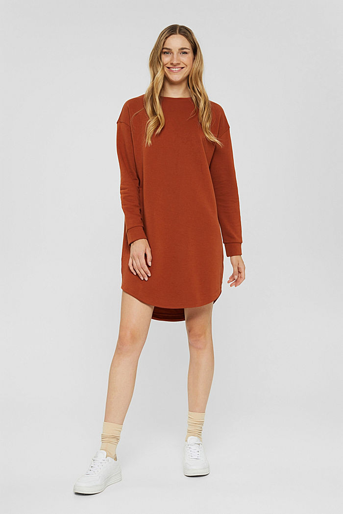 Dresses knitted Oversized drop sh tee , RUST ORANGE, detail image number 0