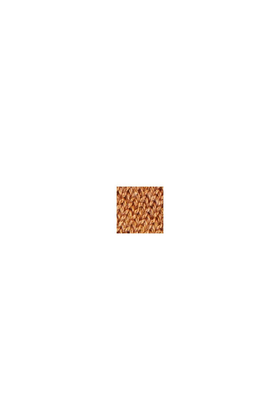 Basisstrikkjole i økologisk bomuldsblanding, BARK, swatch