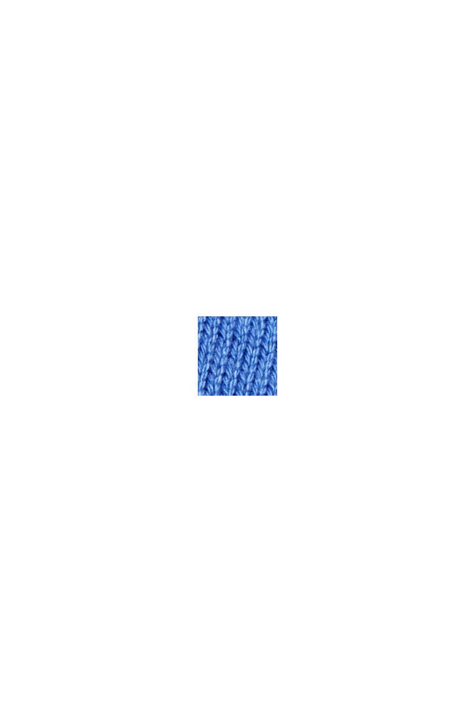Basisstrikkjole i økologisk bomuldsblanding, BRIGHT BLUE, swatch