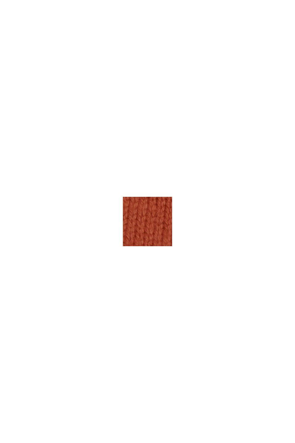 Stickad basklänning av ekobomullsmix, RUST ORANGE, swatch
