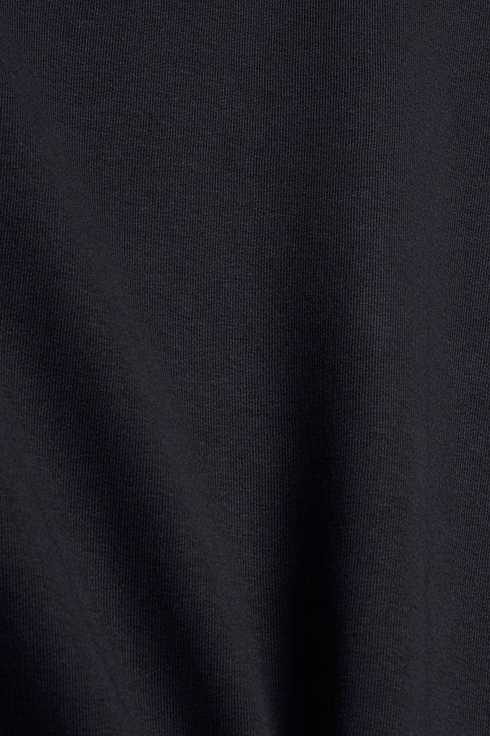 Sweatjurk met capuchon van een mix met biologisch katoen, BLACK, detail image number 4