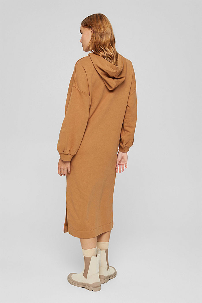 Hooded sweatshirt dress in an organic cotton blend, BARK, detail image number 2