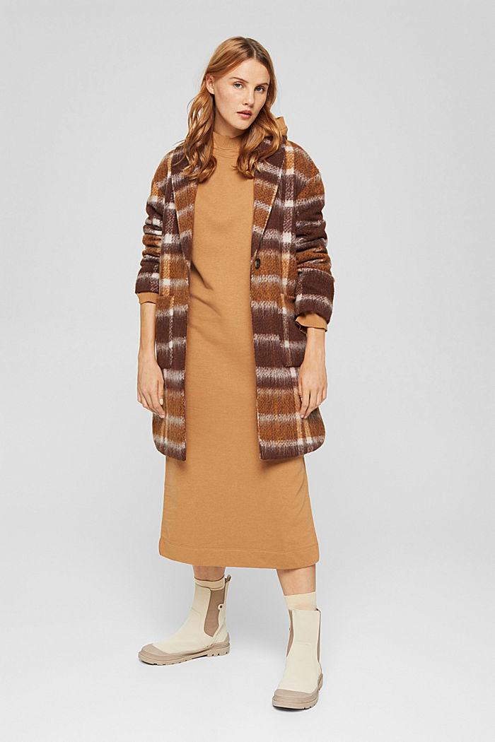 Hooded sweatshirt dress in an organic cotton blend, BARK, detail image number 1