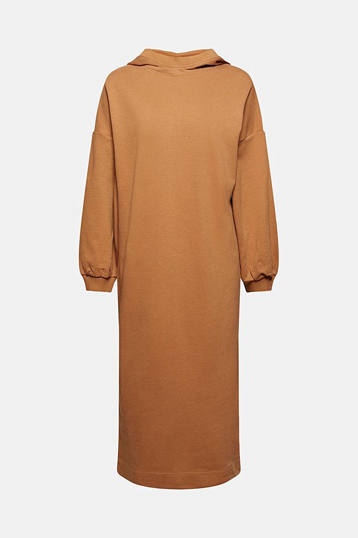 Sweathoodie-Kleid aus Bio-Baumwoll-Mix