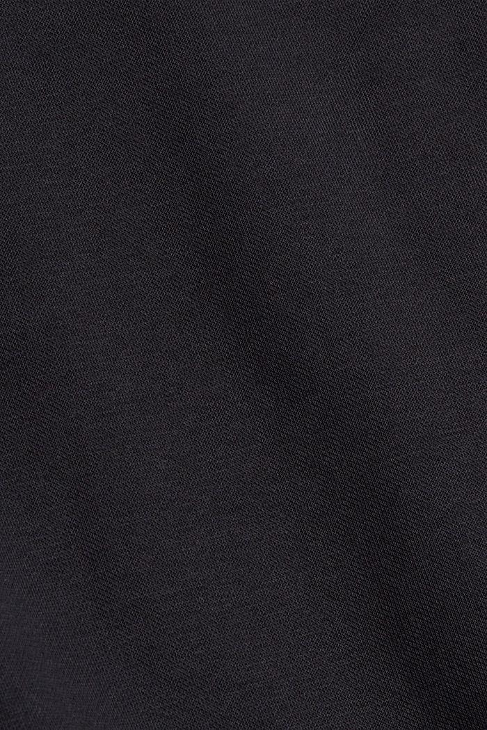Mini-Sweatshirt-Kleid mit floralem Jersey, BLACK, detail image number 4