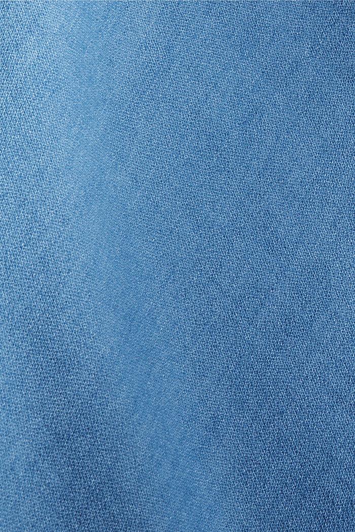 Chemisier au look denim 100% coton, BLUE MEDIUM WASHED, detail image number 4