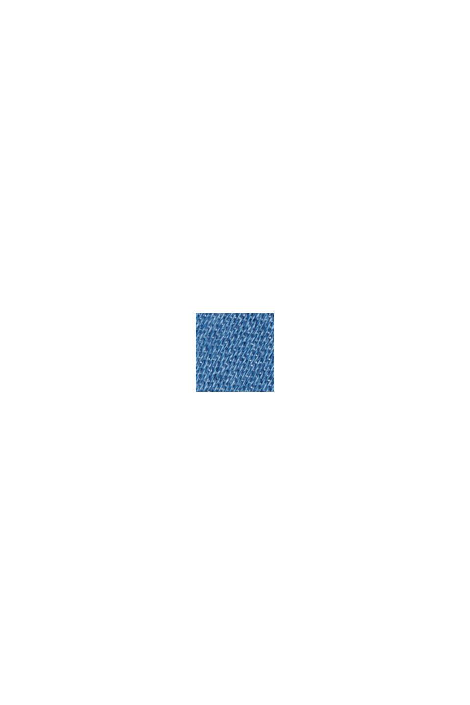 Overhemdblouse van 100% katoen met denim look, BLUE MEDIUM WASHED, swatch