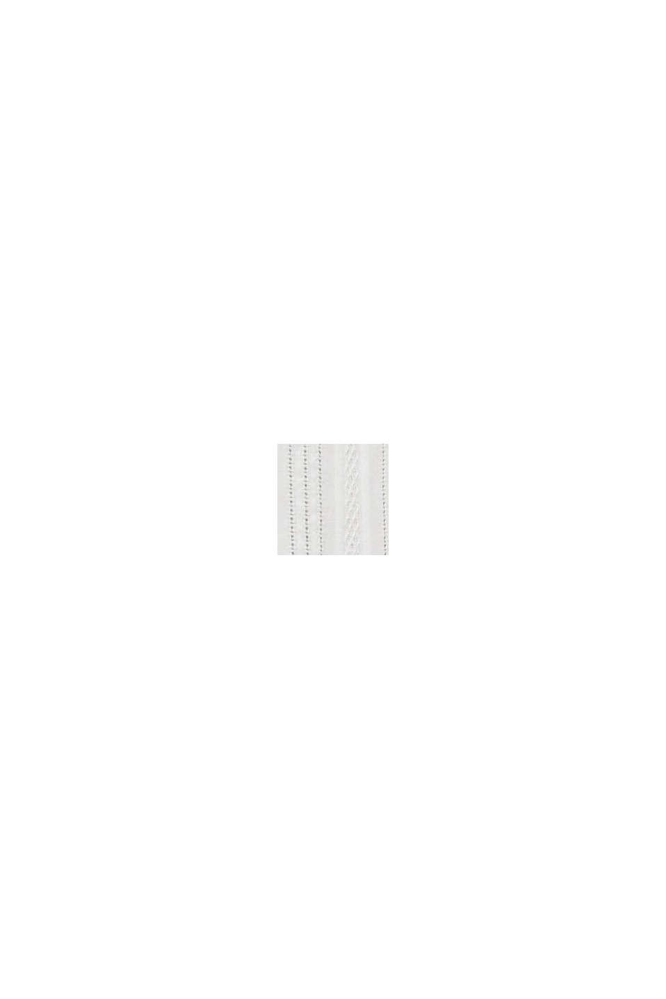 Bluse med halvgennemsigtig struktur, OFF WHITE, swatch