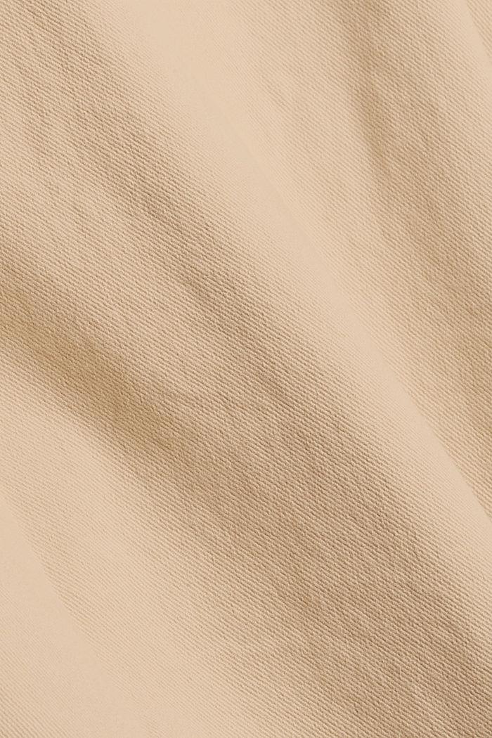 Shacket en twill de coton biologique, BEIGE, detail image number 4