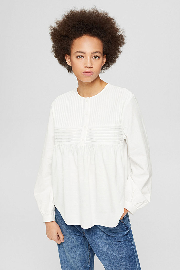 Blouses woven, WHITE, detail image number 0
