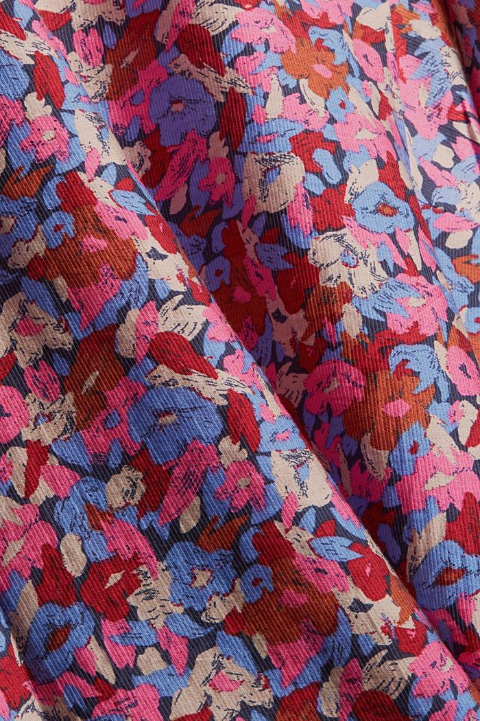 TENCEL™-Mix: Flower Bluse mit Statement-Ärmeln, NAVY, detail image number 4