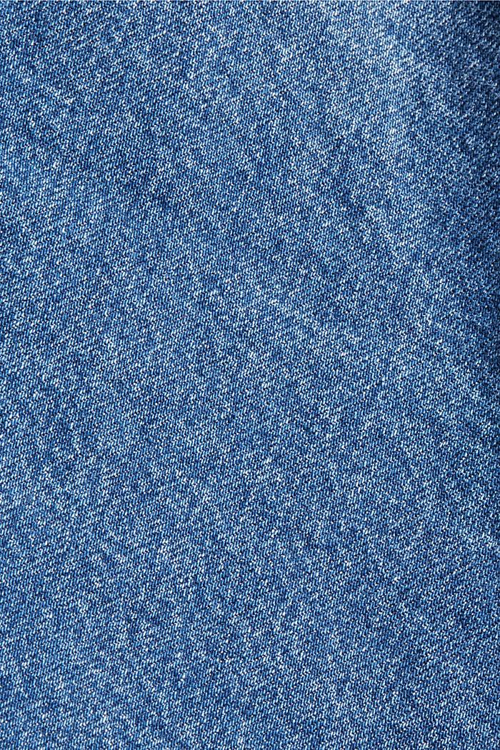 Oversize Jeansjacke aus Bio-Baumwoll-Mix, BLUE DARK WASHED, detail image number 4