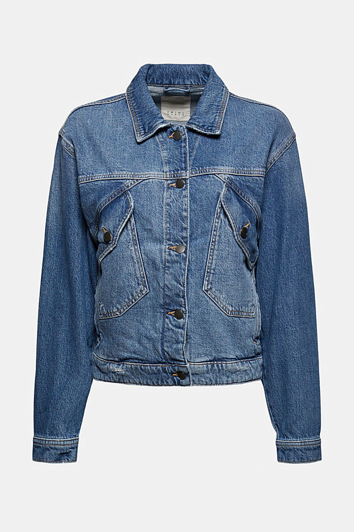 Giacca di jeans oversize in misto cotone biologico