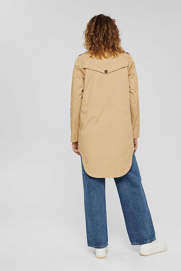 Trenchcoat mit neuem Look, 100% Baumwolle, BEIGE, detail image number 3