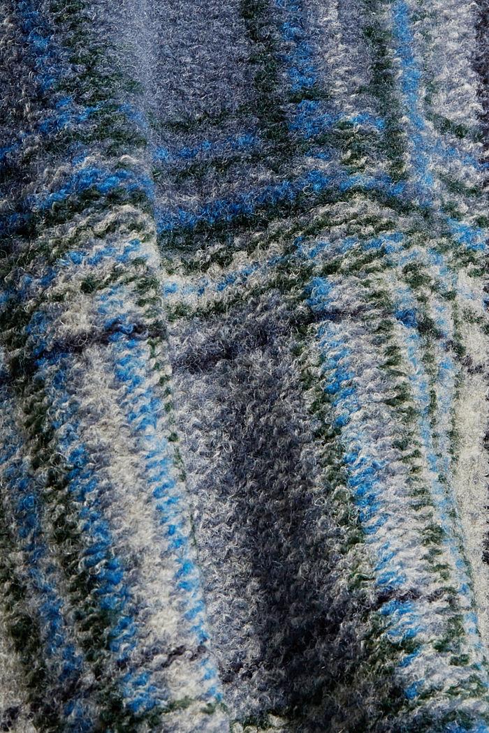 Mit Wolle: Shacket im Karo-Look, NAVY, detail image number 4