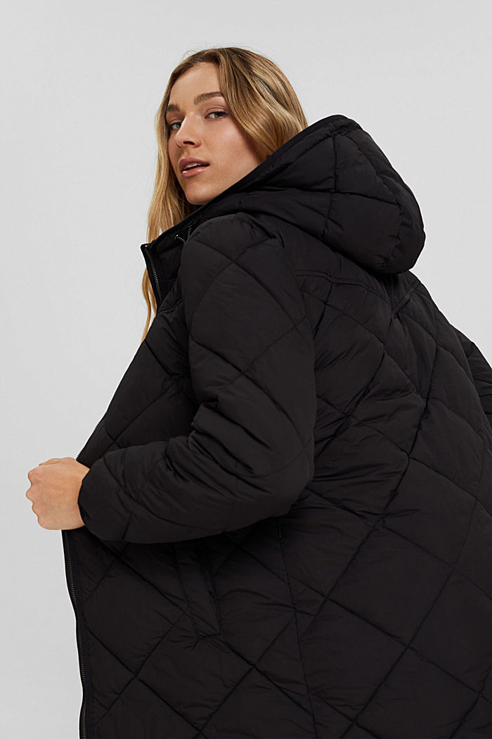 Recycled: quilted coat with 3M™ Thinsulate™