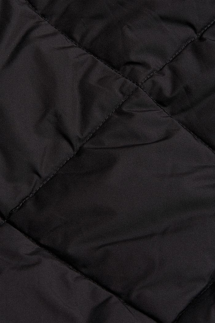 Recycelt: Steppmantel mit 3M™ Thinsulate, BLACK, detail image number 4