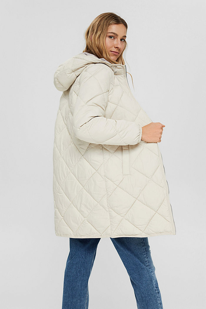 Recycled: quilted coat with 3M™ Thinsulate™, OFF WHITE, detail image number 3
