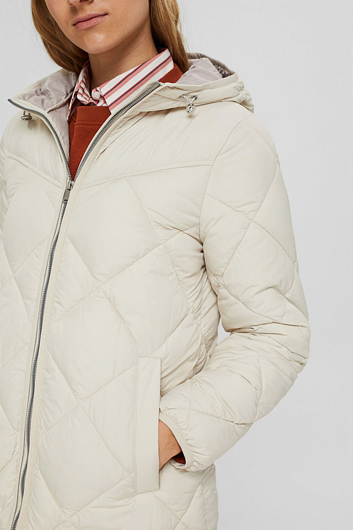 Recycled: quilted coat with 3M™ Thinsulate™, OFF WHITE, detail image number 2
