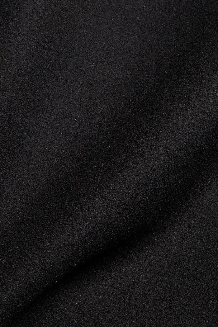 Aus Woll-Mix. Blazermantel mit Schalkragen, BLACK, detail image number 4
