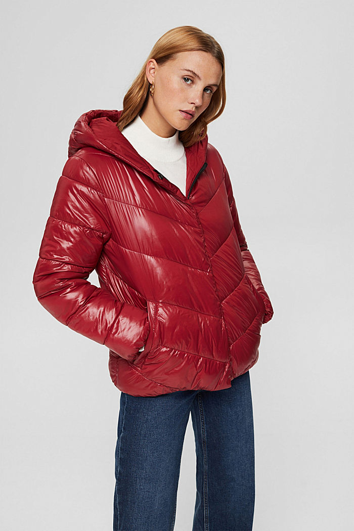 Recycled: reversible jacket with 3M™ Thinsulate, DARK RED, detail image number 0