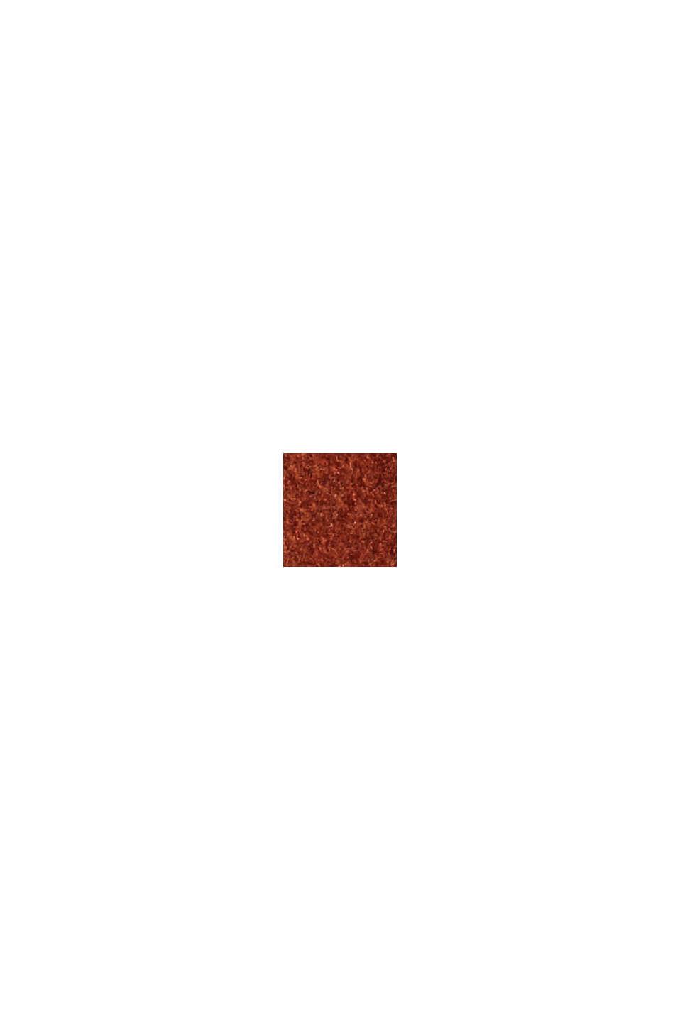 Reciclado: abrigo en mezcla de lana con cuello chal, CINNAMON, swatch