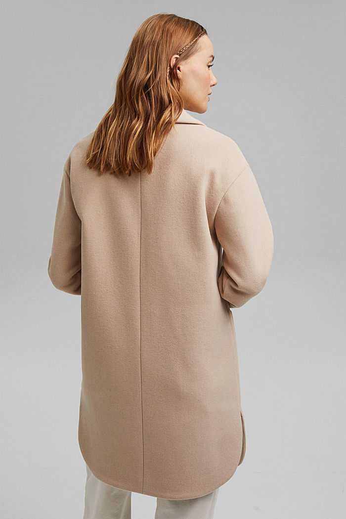 Coats woven Regular Fit, BEIGE, detail image number 3