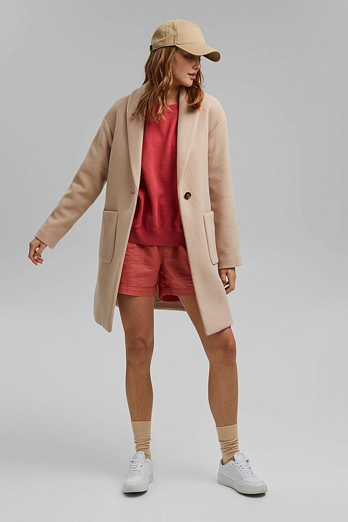 Coats woven Regular Fit, BEIGE, detail image number 6