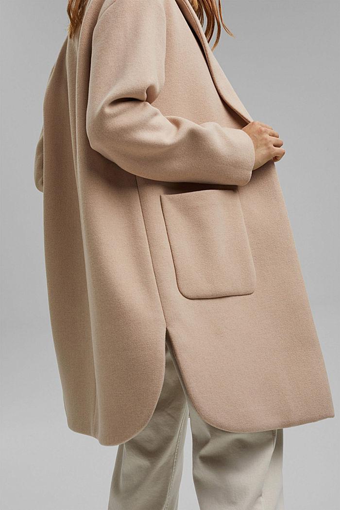 Coats woven Regular Fit, BEIGE, detail image number 2