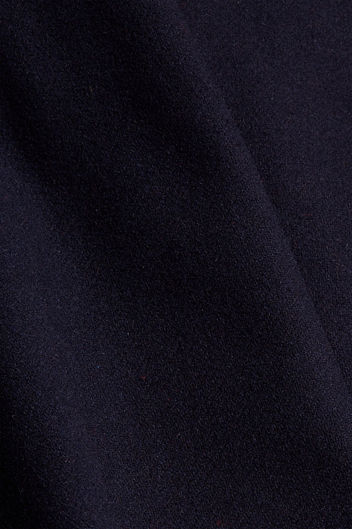 Recycled: coat made of blended wool, NAVY, detail image number 4