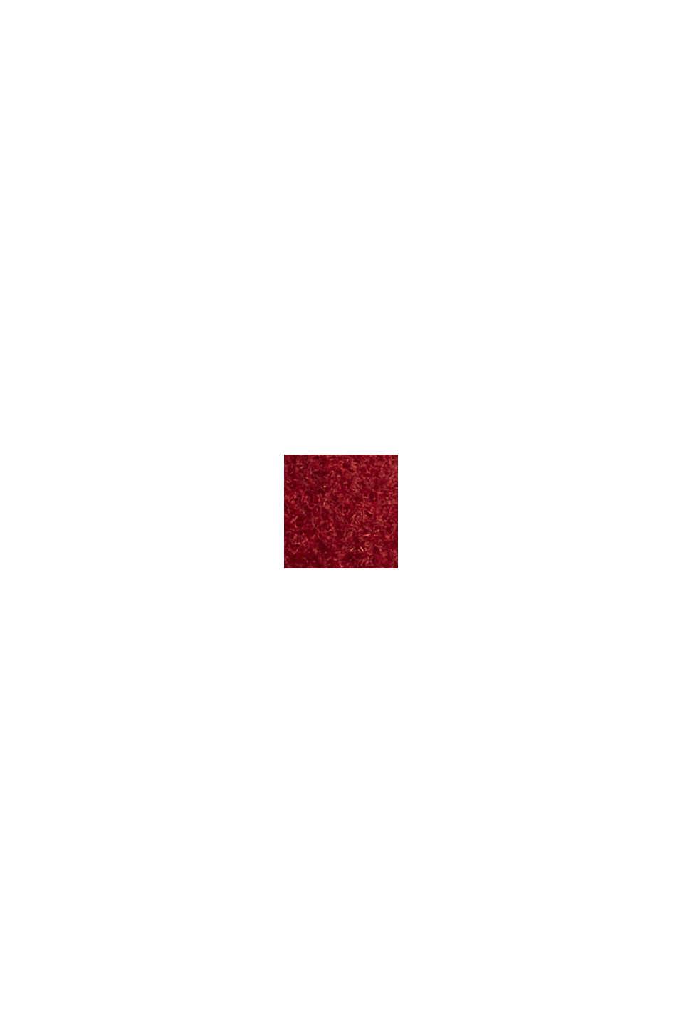 Genanvendte materialer: frakke i uldmiks, DARK RED, swatch