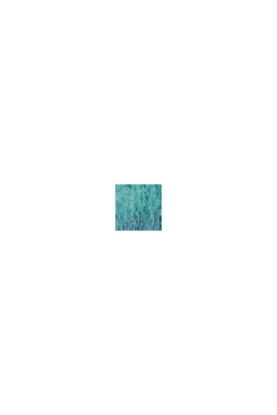 À teneur en laine: le pull-over rayé à manches bouffantes, AQUA GREEN, swatch