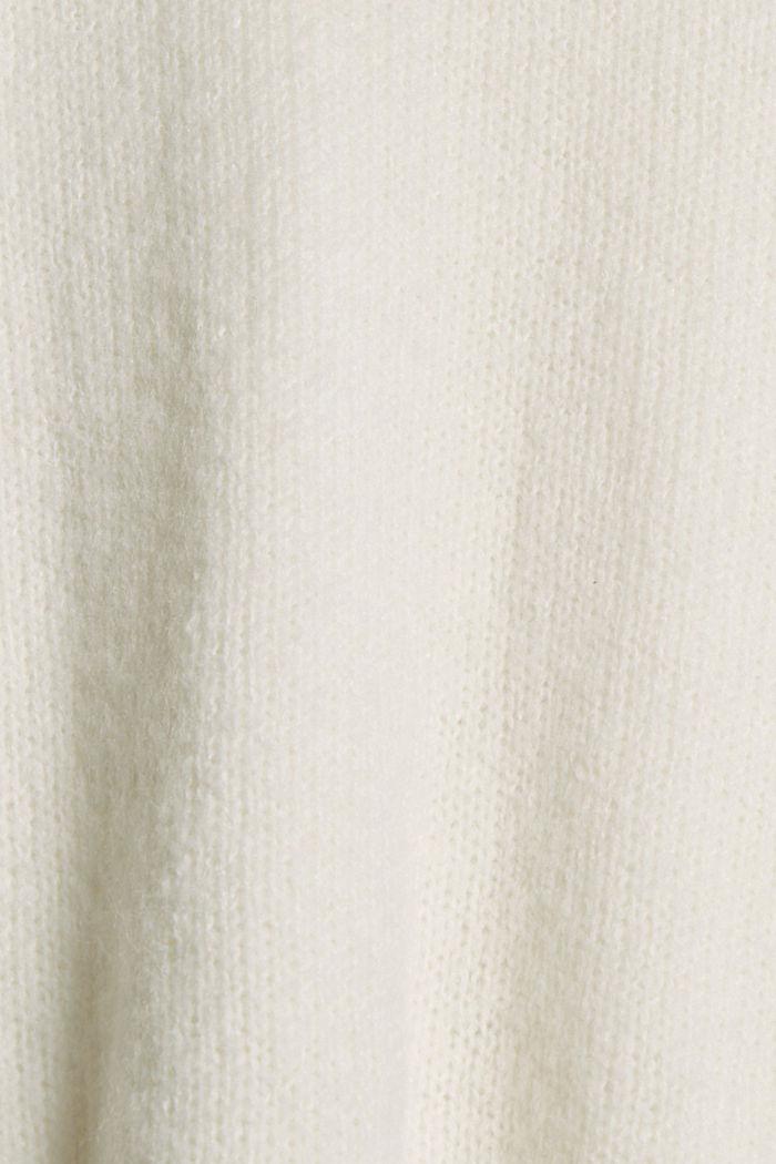 Mit Wolle: Pullover mit Puffärmeln, OFF WHITE, detail image number 4