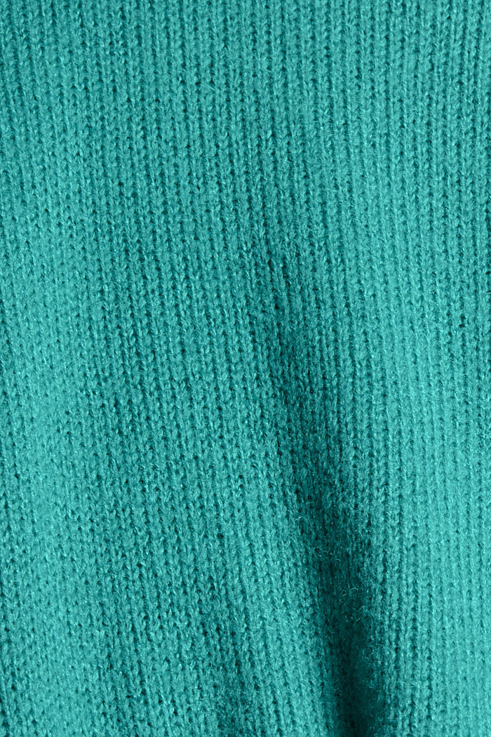 Mit Wolle: Pullover mit Puffärmeln, AQUA GREEN, detail image number 4