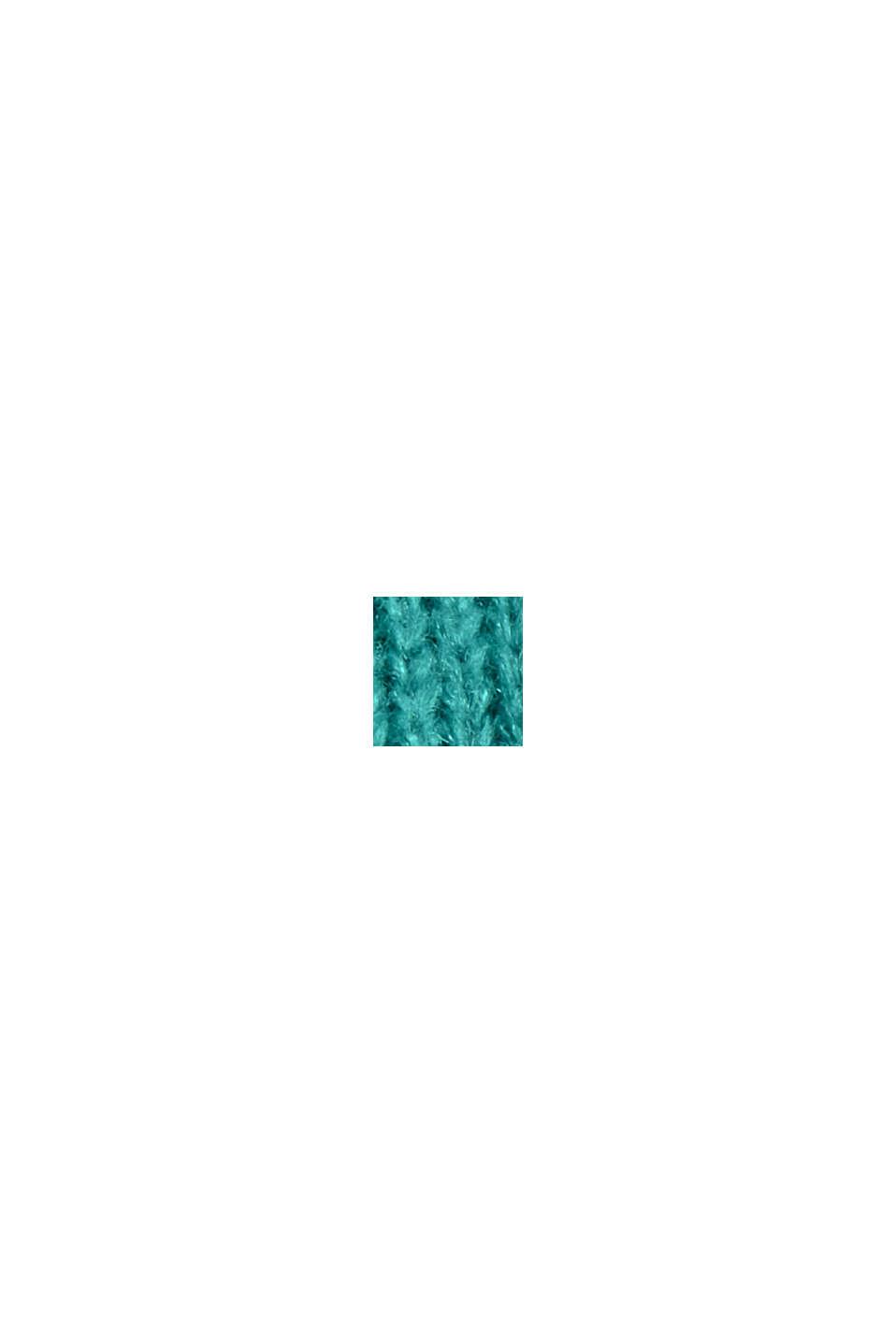 Mit Wolle: Pullover mit Puffärmeln, AQUA GREEN, swatch