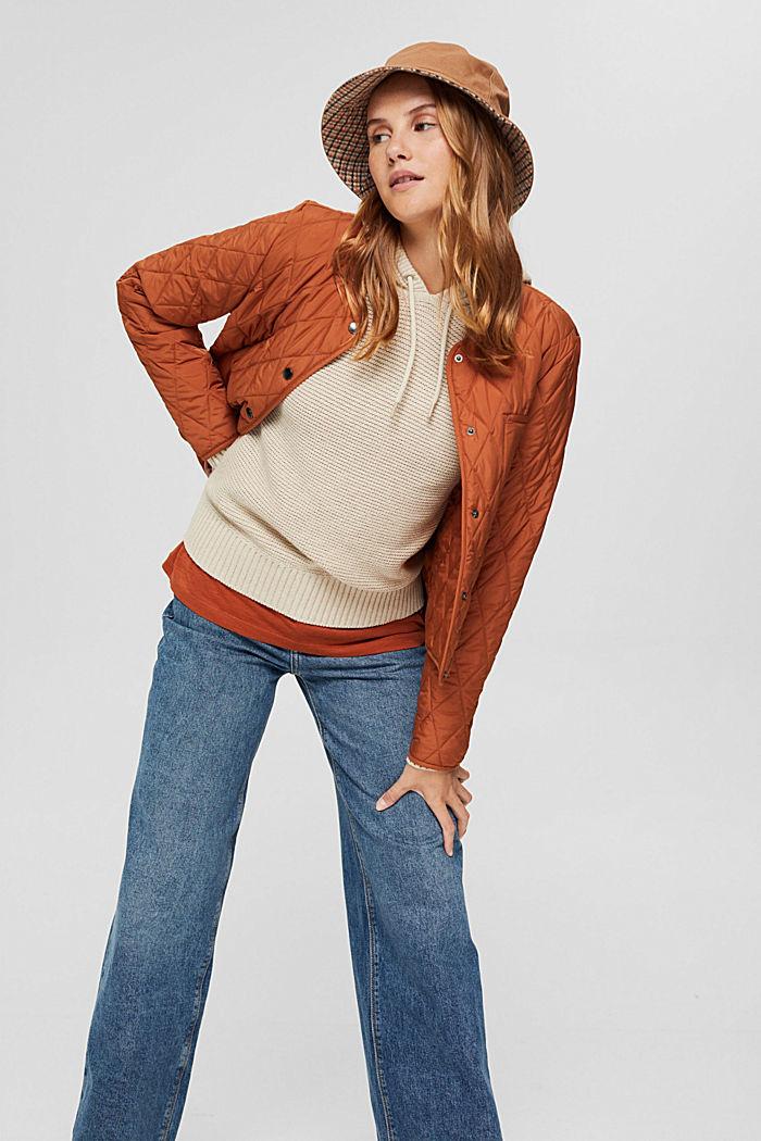 Hooded jumper, 100% cotton, BEIGE, detail image number 5