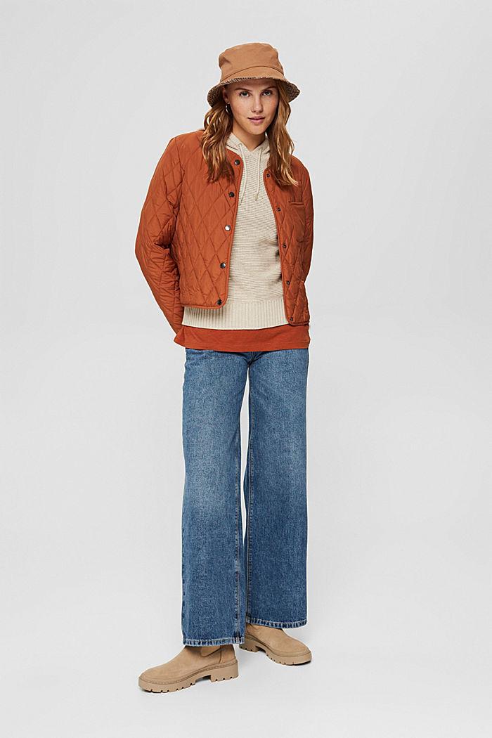 Hooded jumper, 100% cotton, BEIGE, detail image number 1