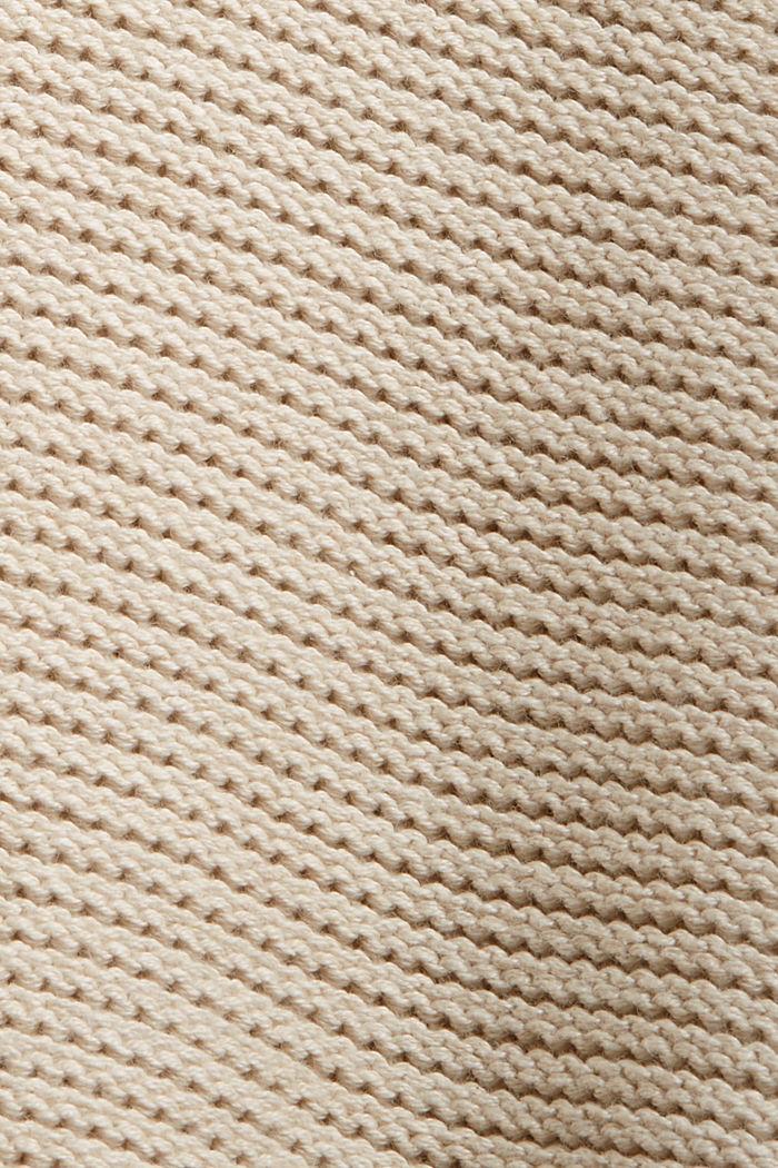 Hooded jumper, 100% cotton, BEIGE, detail image number 4