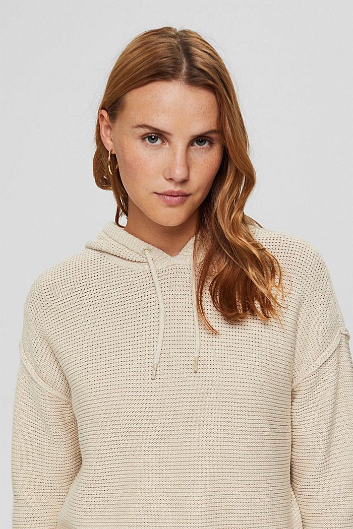 Hooded jumper, 100% cotton, BEIGE, detail image number 6