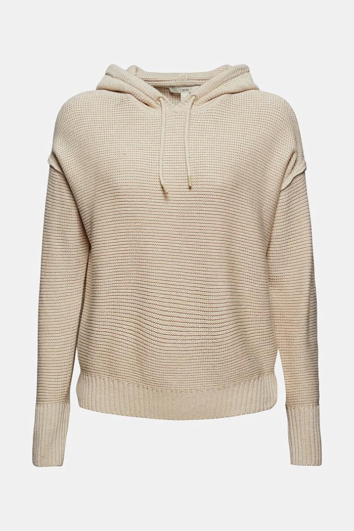 Hooded jumper, 100% cotton, BEIGE, detail image number 8